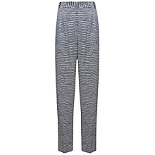 Buy Whistles Saffi Silk Vito Stripe Trousers, Blue Online at johnlewis.com