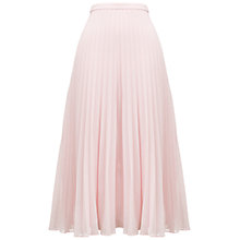 Buy Whistles Ellie Pleated Skirt, Pink Online at johnlewis.com