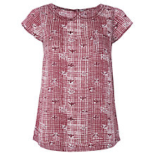 Buy White Stuff Agnes Check Top, Red Plum Online at johnlewis.com