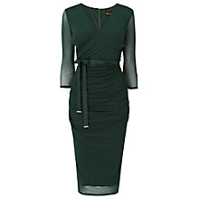 Buy Phase Eight Emmy Mesh Dress, Forest Online at johnlewis.com