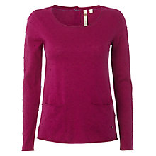 Buy White Stuff Samphire Jumper, Magenta Go Online at johnlewis.com
