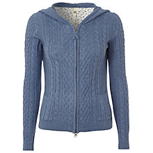 Buy White Stuff Handy Hoodie, Blue Suede Online at johnlewis.com