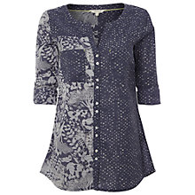 Buy White Stuff Clara Mixed Print Shirt, Dark Moonlight Online at johnlewis.com