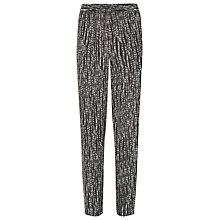 Buy Windsmoor Mono Print Trousers, Black Online at johnlewis.com