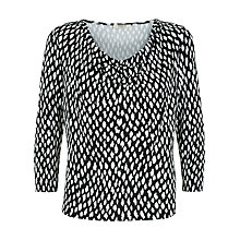Buy Precis Petite Animal Print Top, Multi Dark Online at johnlewis.com