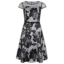 Buy Precis Petite Ikat Floral Spot Dress, Multi Dark Online at johnlewis.com