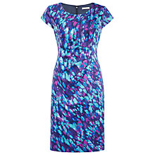 Buy Precis Petite Waterlily Print Dress, Multi Dark Online at johnlewis.com