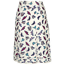 Buy Fat Face Claire Butterfly Skirt, Ivory Online at johnlewis.com