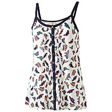 Buy Fat Face Glenda Butterfly Camisole, Ivory Online at johnlewis.com