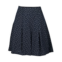 Buy Fat Face Pleat Petal Fan Skirt, Navy Online at johnlewis.com