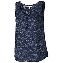 Buy Fat Face Caitlyn Petal Fan Top, Navy Online at johnlewis.com