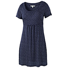 Buy Fat Face Petal Fan Tunic Dress, Navy Online at johnlewis.com