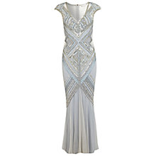 Buy Miss Selfridge Sequin Mesh Panel Maxi Dress, Blue Online at johnlewis.com