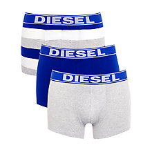 Buy Diesel Shawn Boxer Trunks, Pack of 3, White/Blue Online at johnlewis.com