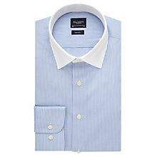 Buy Hackett London Fine Stripe Contrast Collar Shirt, Blue/White Online at johnlewis.com