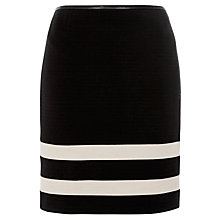 Buy BOSS Double Stripe Skirt, Black Online at johnlewis.com