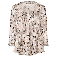 Buy Sandwich Leaves Tunic Top, Mushroom Online at johnlewis.com