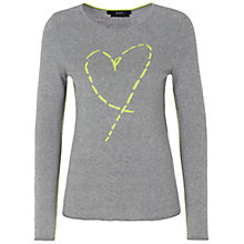Buy Oui Heart Knit Jumper, Grey Online at johnlewis.com
