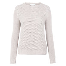 Buy BOSS Textured Jumper, Brown Online at johnlewis.com