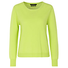 Buy Oui Wool-blend Jumper, Lime Online at johnlewis.com