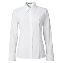 Buy Oui Basic Shirt, White Online at johnlewis.com