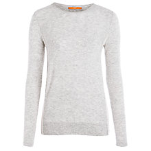 Buy BOSS Orange Bow Knit Jumper With Side Insert, Grey Online at johnlewis.com