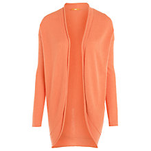 Buy BOSS Orange Bow Knit Draped Cardigan, Red Online at johnlewis.com