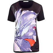 Buy BOSS Abstract Print Top, Black Online at johnlewis.com