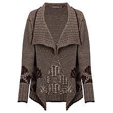 Buy Sandwich Tweed Stripe Cardi, Dark Berry Online at johnlewis.com