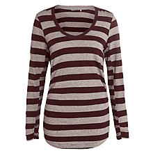 Buy Sandwich Stripe Top, Dark Berry Online at johnlewis.com