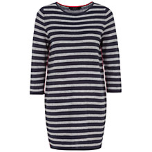 Buy Oui Stripe Dress, Blue Grey Online at johnlewis.com
