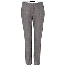 Buy Oui Check Trousers, Black/White Online at johnlewis.com