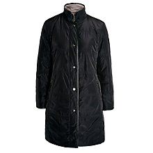 Buy Basler Reversible Coat Quilted/Plain, Navy/Brown Online at johnlewis.com
