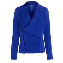 Buy Sandwich Waterfall Biker Jacket, Blue Online at johnlewis.com