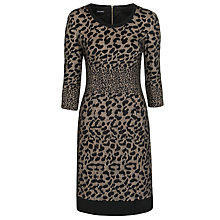 Buy Gerry Weber Leopard Dress, Ecru/Black Online at johnlewis.com