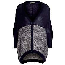 Buy Sandwich Colour Block Cardi, Nightfall Online at johnlewis.com