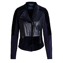 Buy Sandwich Suede Jacket, Nightfall Online at johnlewis.com