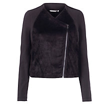Buy Sandwich Faux Suede Jacket, Black Online at johnlewis.com