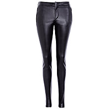 Buy BOSS Orange Vegan Leather Leggings, Black Online at johnlewis.com