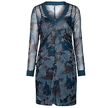 Buy Sandwich Mesh Print Tunic Dress, Dark Petrol Online at johnlewis.com