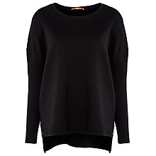 Buy BOSS Orange Textured Jumper, Black Online at johnlewis.com