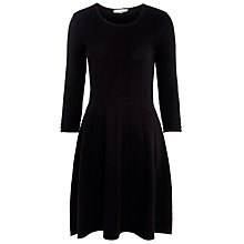 Buy BOSS Textured Jersey Dress, Black Online at johnlewis.com
