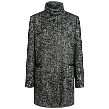Buy Basler Herringbone Wool Coat, Black Online at johnlewis.com