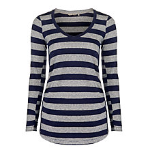 Buy Sandwich Stripe Long Sleeve Top, Nightfall Online at johnlewis.com