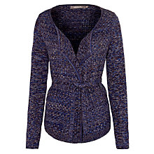 Buy Sandwich Belted Waffle Cardi, Nightfall Online at johnlewis.com
