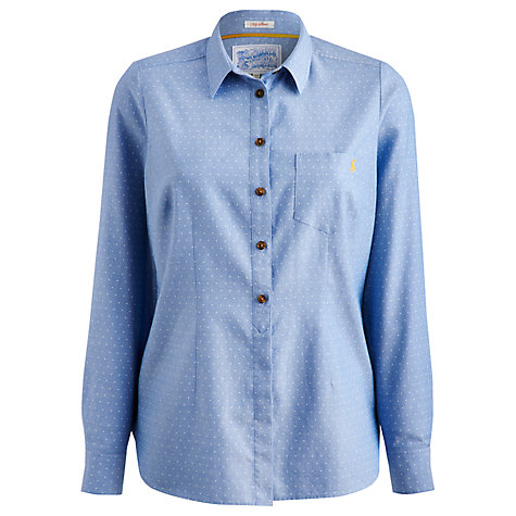 Buy Joules Chambray Spot Shirt, Blue Online at johnlewis.com