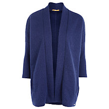 Buy BOSS Orange Bow Drape Textured Cardi, Dark Blue Online at johnlewis.com