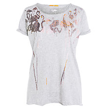 Buy BOSS Orange Bow Flamingo Tee, Grey Online at johnlewis.com