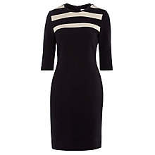 Buy BOSS 3-Stripe Dress, Black Online at johnlewis.com