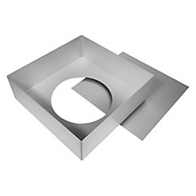 Buy Silverwood Satin Anodised Square Loose Base Cake Tin Online at johnlewis.com